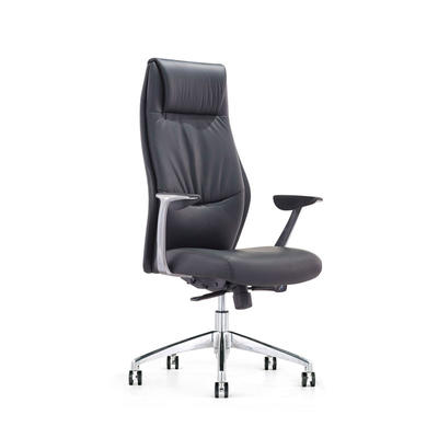 9184 Modern French Commercial High Back Executive Black Leather Swivel Office Chairs