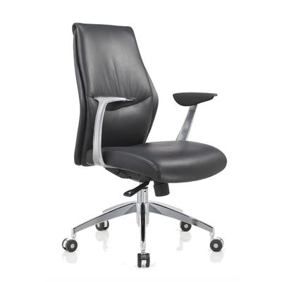 9284 Rolling leather modern task chairs