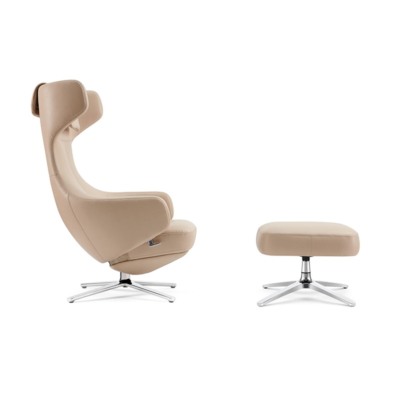 product-Furicco-F1903 + T1903 Modern Cashmere Hotel Leisure Lounge Chairs With Locked Function-img