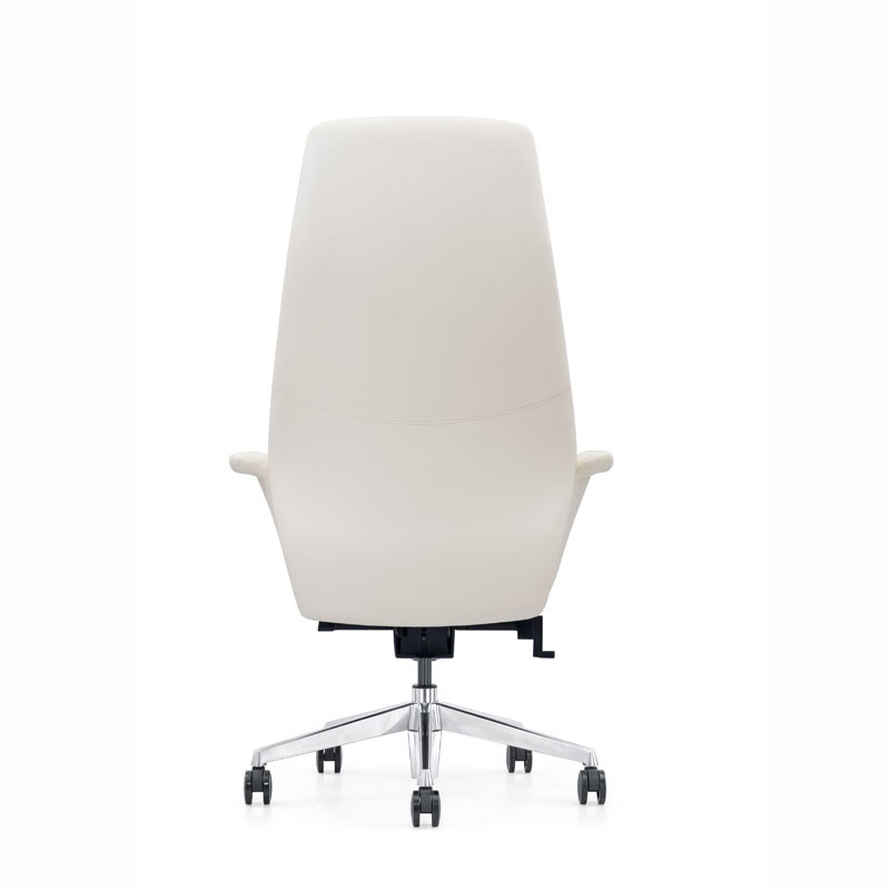 Modern Revolving White Leather Office Executive Chair Furicco