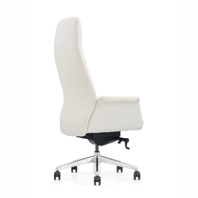 product-Furicco-modern revolving white leather office executive chair A1612-img