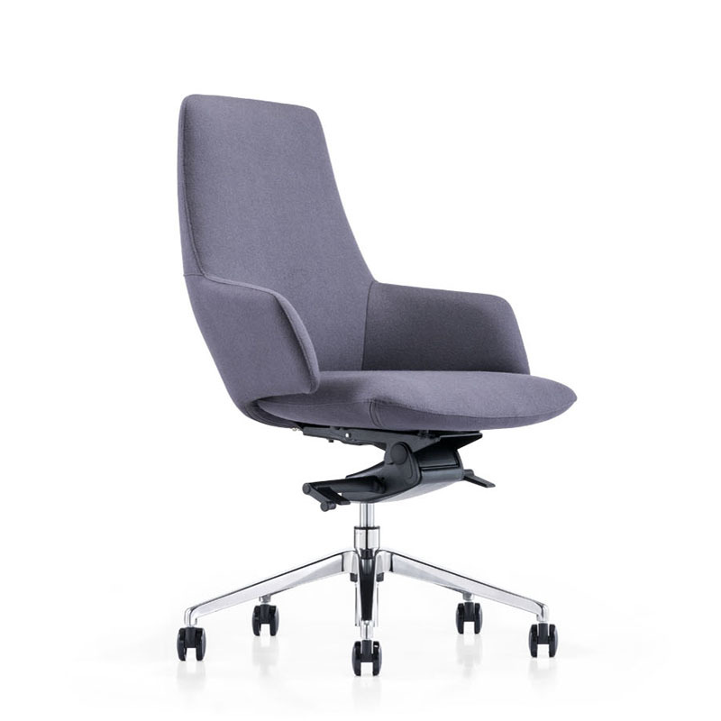 product-Good price rolling PU mid back staff office chairs B1719-Furicco-img-1