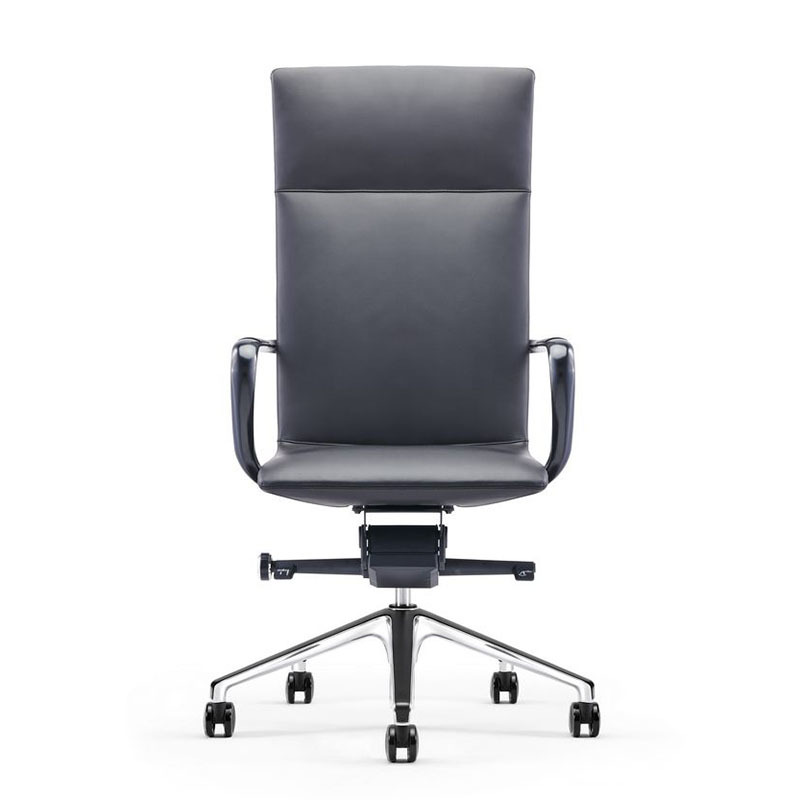 product-Furicco-Height Adjustable Office Leather Managers Chair with Padded Arms A1901-img