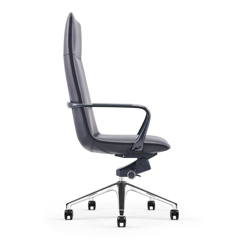 product-Height Adjustable Office Leather Managers Chair with Padded Arms A1901-Furicco-img-1