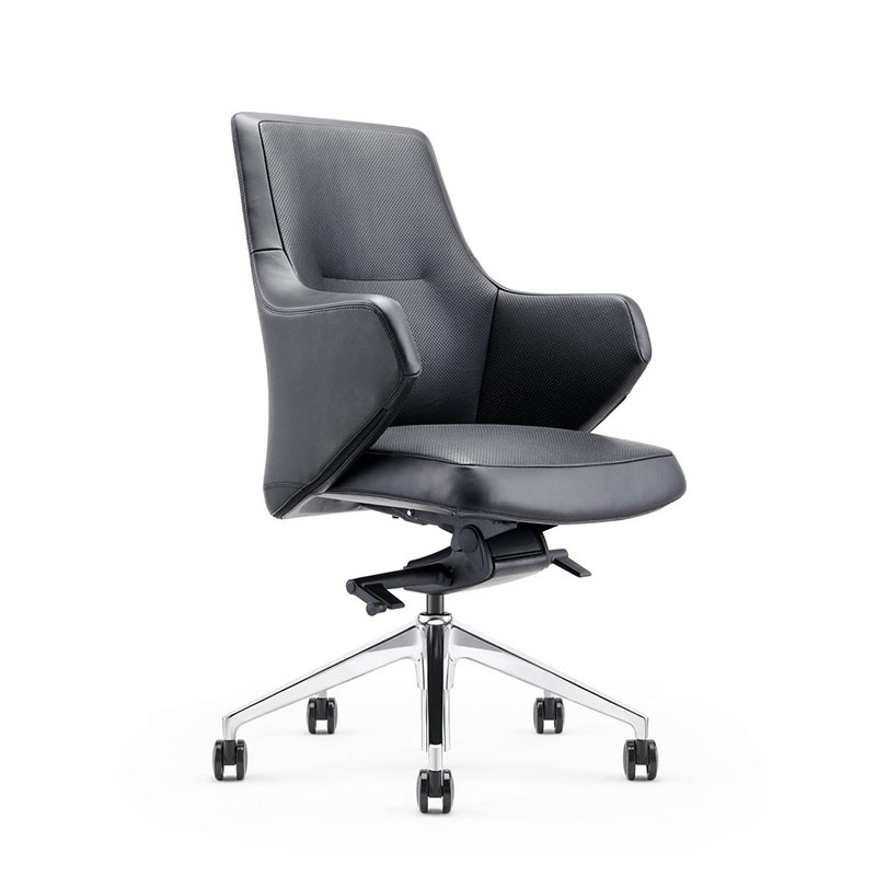 product-Furicco-Heavy Duty Task Chair PU Leather 360-Degree Casters Swivel Office Chair B1927-img