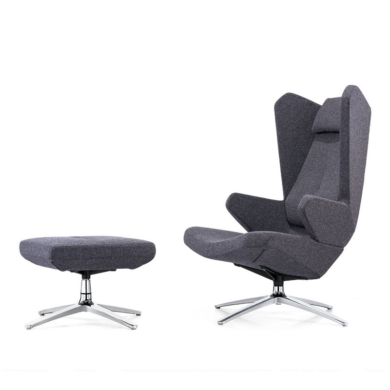 product-Furicco-Modern Lounge Hotel Leisure Chairs With Ottoman F1828-img