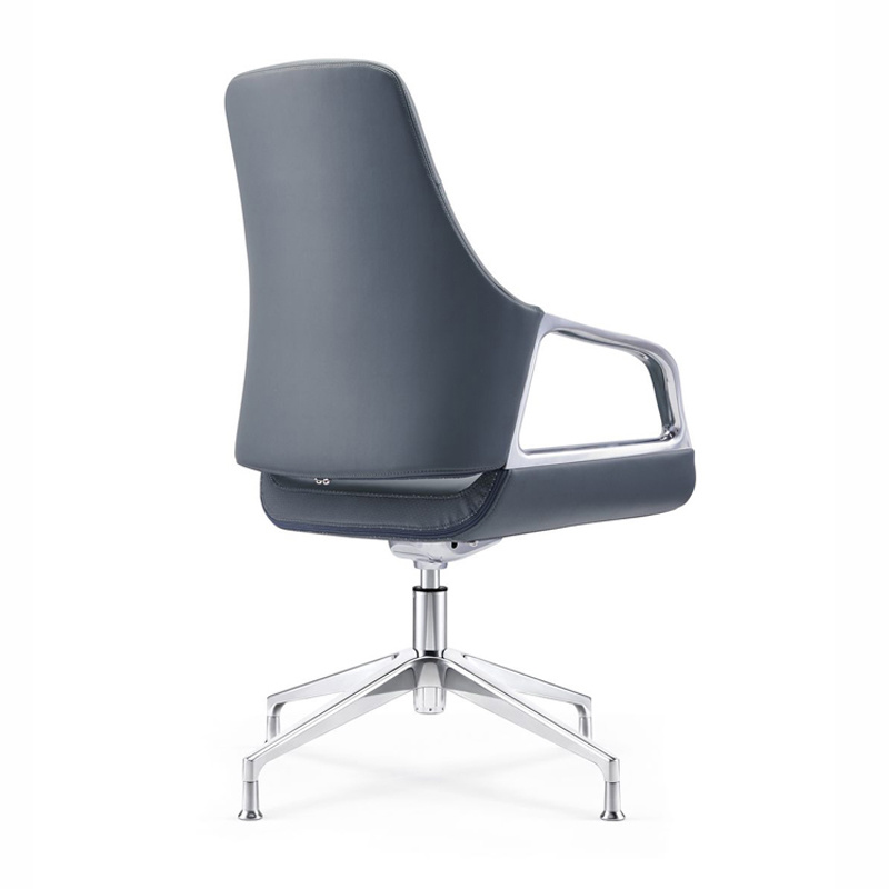 product-Furicco-Middle Back Leather Swivel Ergonomic Visitor Chair for Boardroom C1902-img