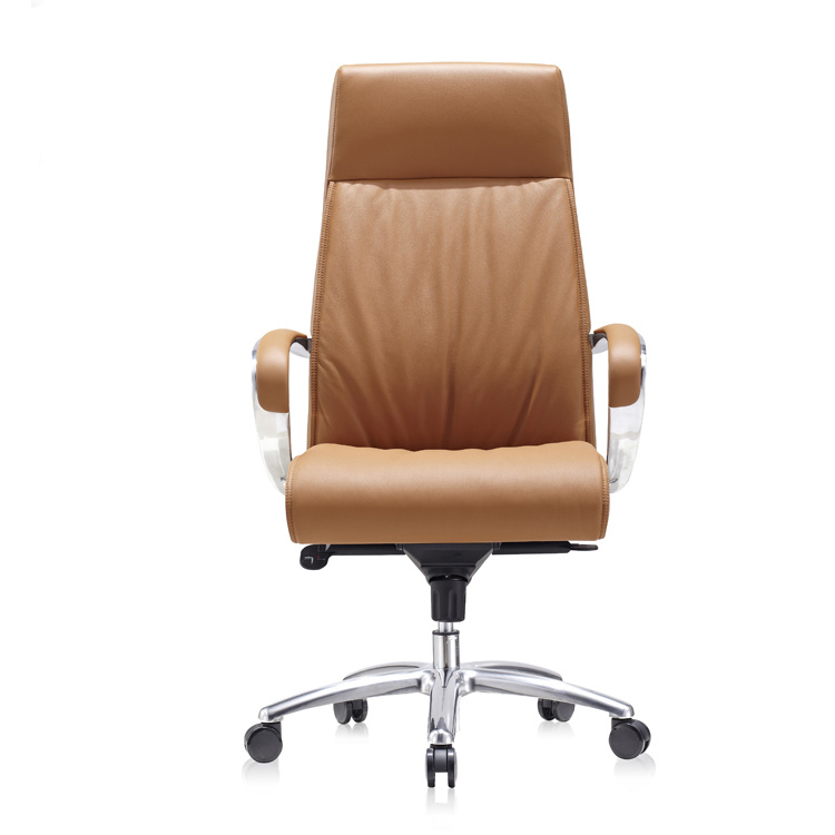 product-Luxury brown leather modern swivel conference executive office chair 9164-Furicco-img-1