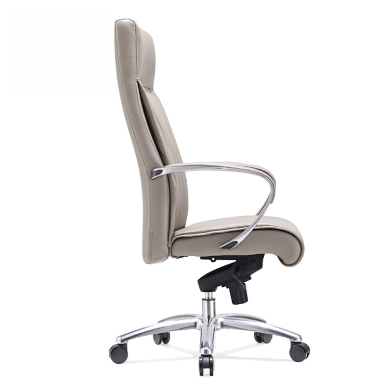 product-Furicco-Luxury brown leather modern swivel conference executive office chair 9164-img