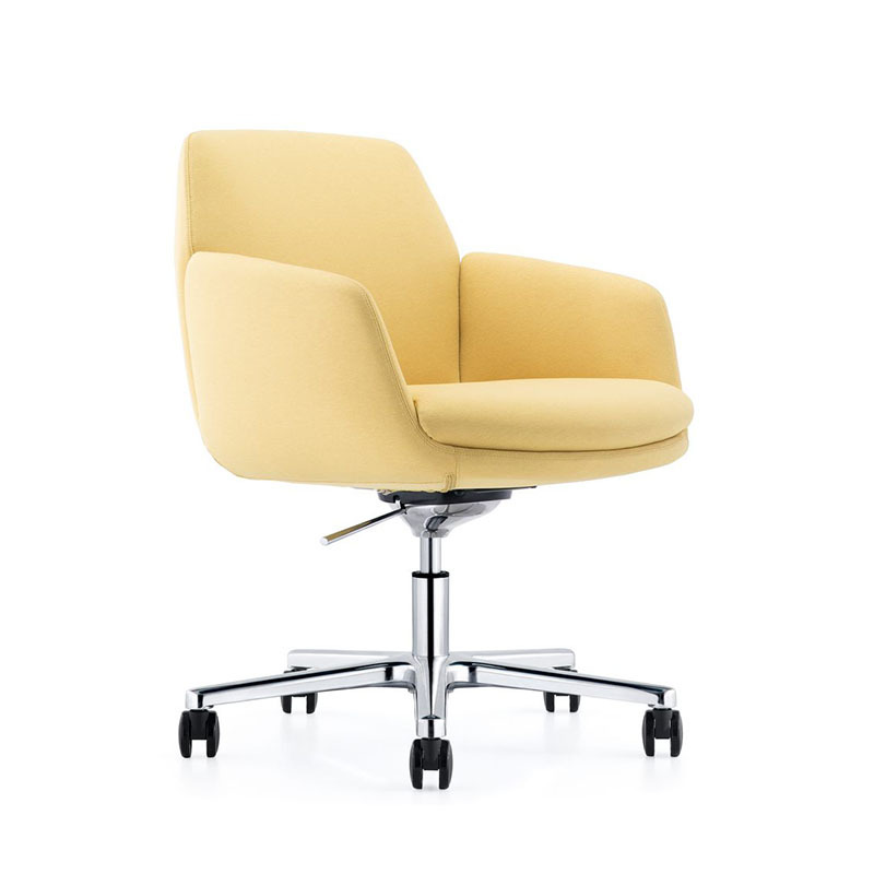 product-Affordable Conference Room Leather Fabric Chairs with Castors B1720-Furicco-img-1