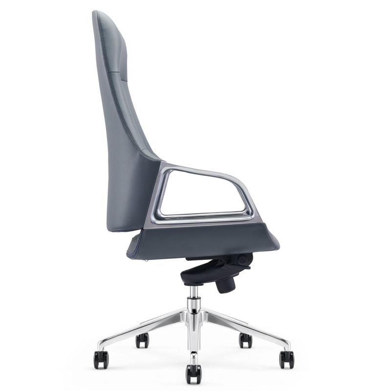 product-Furicco-New high back swivel adjustable leather office seat with armrest-img